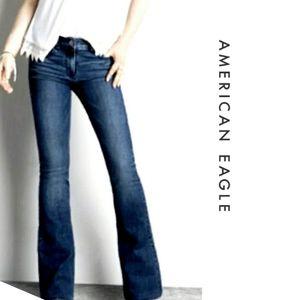 AEO High Rise Artist Super Stretch Flare Jeans 4